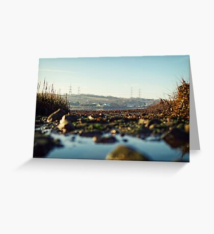 scenic river view of Bentlass Greeting Card
