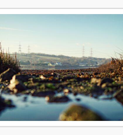 scenic river view of Bentlass Sticker