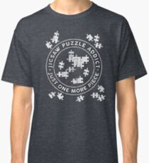 Jigsaw Puzzle Addict - Just One More Piece Classic T-Shirt