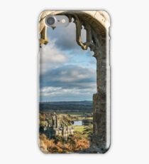Margam Castle, viewed from Hen Eglwys Chapel,South Wales iPhone Case/Skin