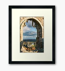 Margam Castle, viewed from Hen Eglwys Chapel,South Wales Framed Print