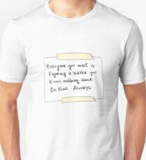 skam inspirational quotes Unisex T-Shirt