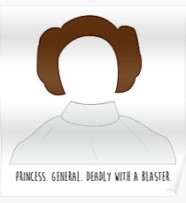 Star Wars Princess Leia inspired Poster