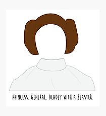 Star Wars Princess Leia inspired Photographic Print