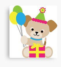 Brown Puppy Birthday Canvas Print