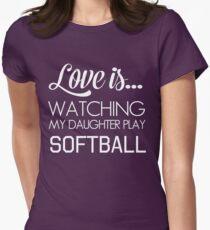 Love is watching my daughter play softball T-Shirt