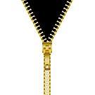 Gold zipper - Black inside by Neelai