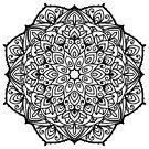Mandala. Dekoratives rundes Blumenmuster von Viktoriia