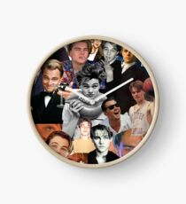 Leonardo Dicaprio Collage Clock