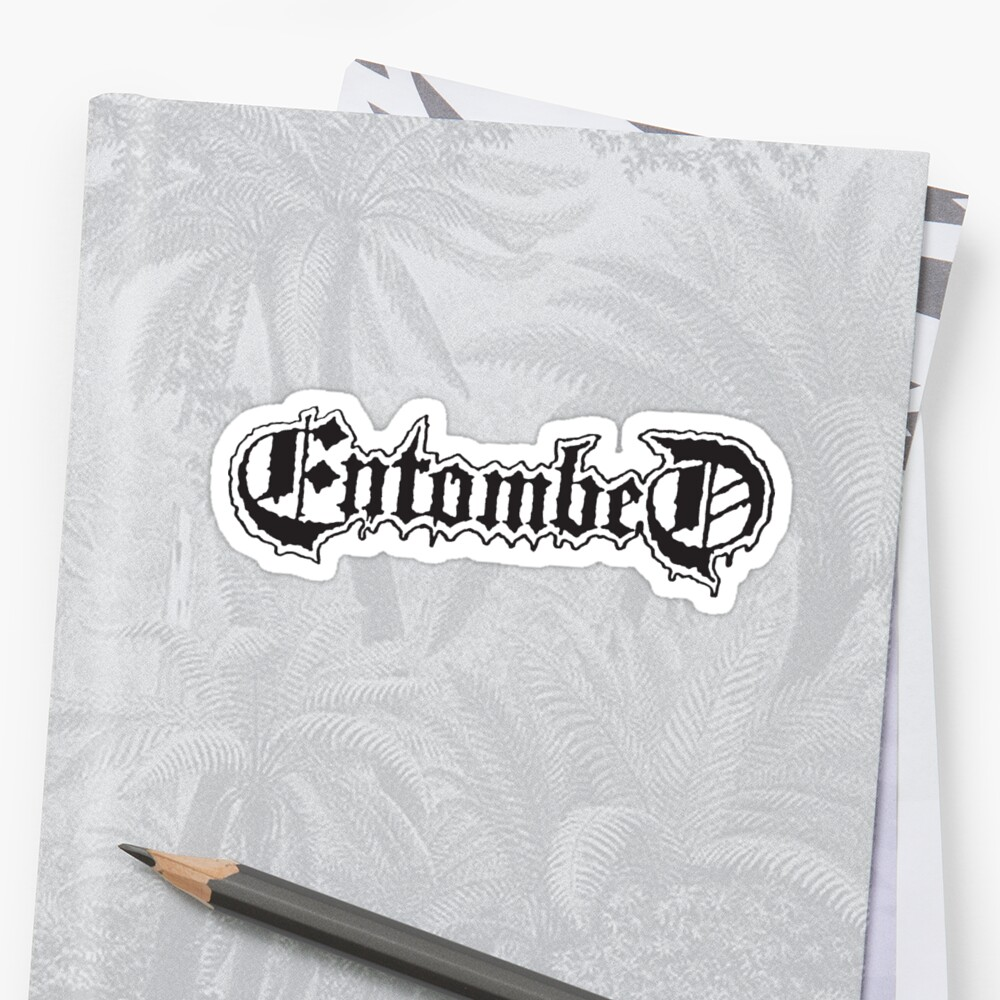 Entombed Logo Sticker