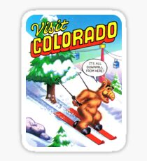 Colorado Ski CO United States of ALF Travel Decal Sticker
