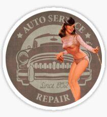 Vintage Auto Repair/Car Repair Pin Up Girl Sticker