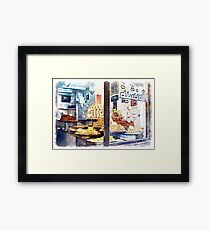 Showcase of Aleppo pastry shop Framed Print