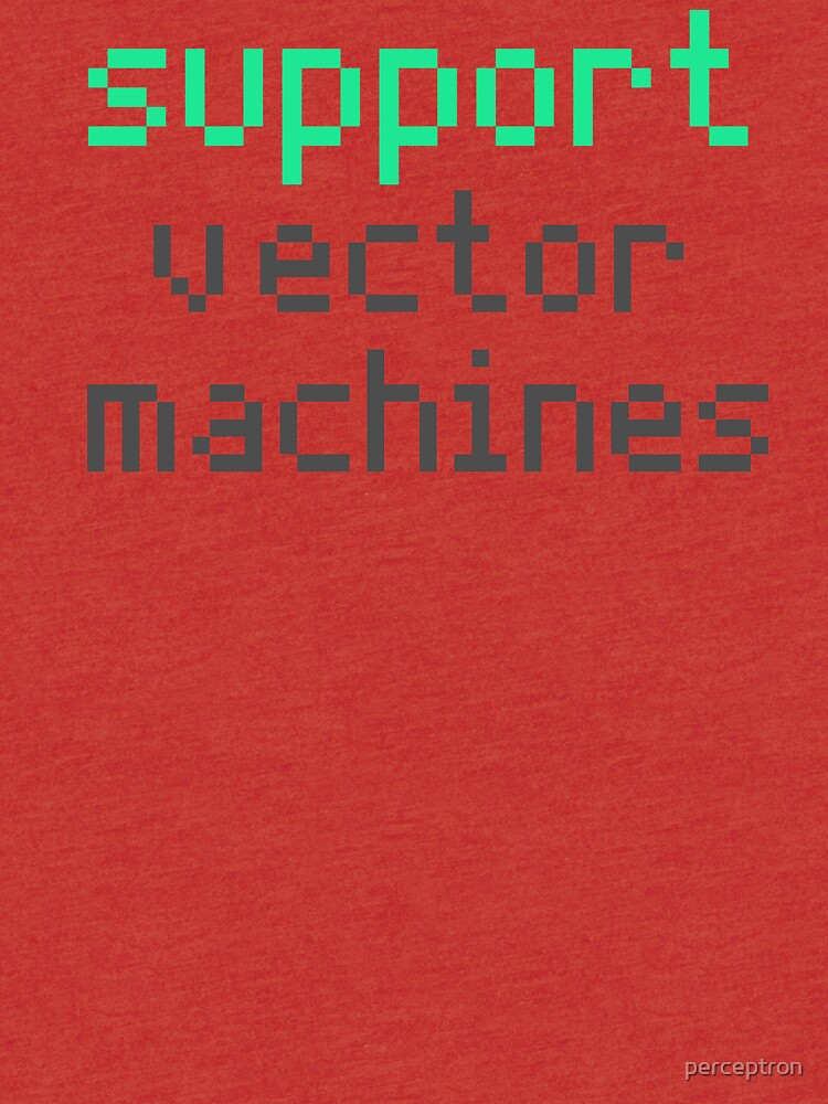 Support vector machines (green) by perceptron