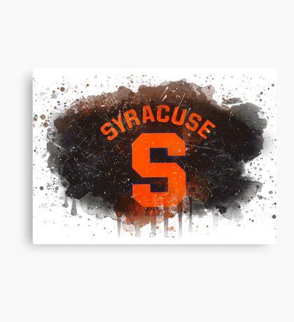 Syracuse University Watercolor Logo Canvas Print