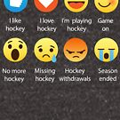 I Love Hockey Emoji Emoticon Graphic Tee Shirt Funny Best by DesIndie