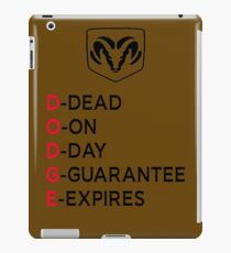 DODGE DEAD iPad Case/Skin