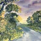 Wild Roses on the Wolds by Glenn Marshall
