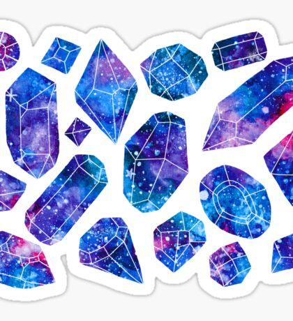 Galaxy crystals Sticker