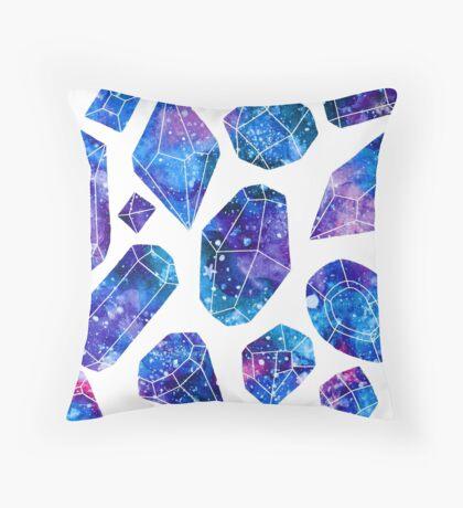 Galaxy crystals Throw Pillow