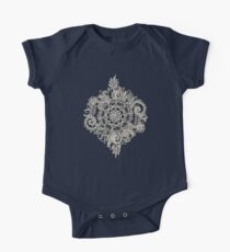 Cream Floral Moroccan Pattern on Deep Indigo Ink Kids Clothes
