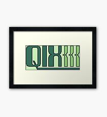 Qix (Game Boy Title Screen) Framed Print