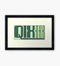 Qix (Game Boy Title Screen) Framed Print