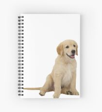 Cute Golden Retriever Spiral Notebook