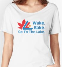 Defending Awesome - Wake Bake Go To The Lake Women's Relaxed Fit T-Shirt