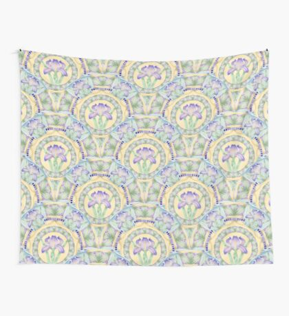 Iris Nouveau Floral Wall Tapestry