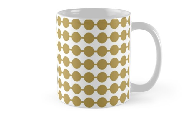 White Gold Dot Pattern by MyArt23