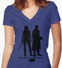Captain Swan version 2 Women's Fitted V-Neck T-Shirt