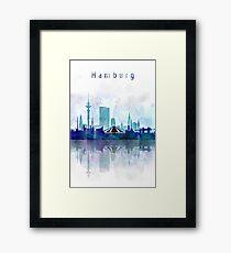 Two Color Hamburg Watercolor Framed Print