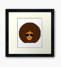 Big Afro Shades She Rocks Framed Print