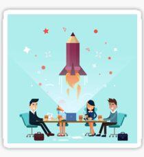 Business Project Startup Concept Design Sticker