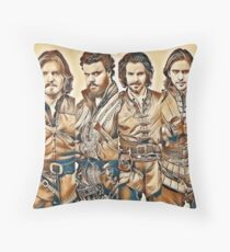 All for one and One For All Throw Pillow
