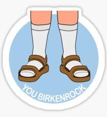Pegatina Calcetines y Birkenstocks