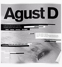 Póster AGUST D ALBUM ART