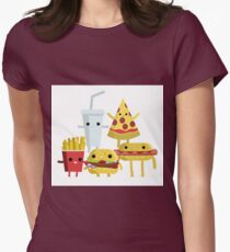 kawaii cute fast food cartoons T-Shirt