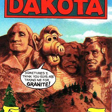 South Dakota Mount Rushmore Estados Unidos de ALF Travel Decal de hackeycard