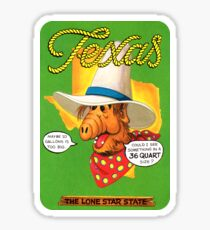 Texas TX United States of ALF Travel Decal Sticker