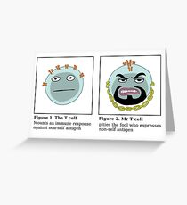 Mr T cell Greeting Card
