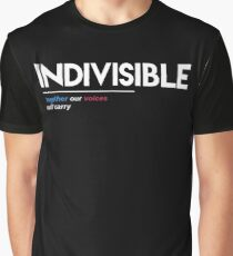 Indivisible T-Shirt: Together Our Voices Will Carry Graphic T-Shirt