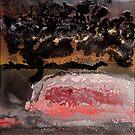 Santa Ana Winds (fluid art on canvas) by David Pringle