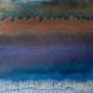 Sediment (fluid art on canvas) by David Pringle