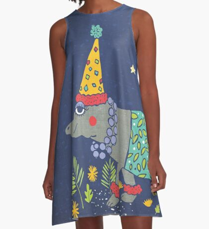 Party Hippo A-Linien Kleid
