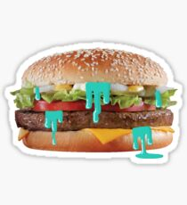 Trippy Burger Sticker
