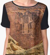 Three Kings Petroglyphs - Dry Fork Canyon - Vernal Utah Chiffon Top
