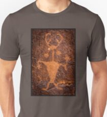 Moab Man Petroglyph Portrait - Utah Unisex T-Shirt