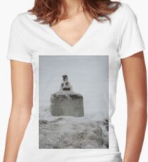 A Very Late Merry Christmas Women's Fitted V-Neck T-Shirt